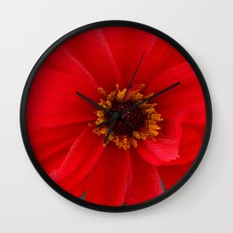 Scarlet Red Wall Clock