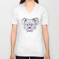 koala V-neck T-shirts featuring Koala by 13 Styx