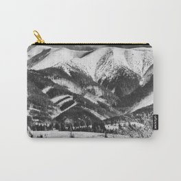 mountains Tatry #blackandwhite #photography Carry-All Pouch