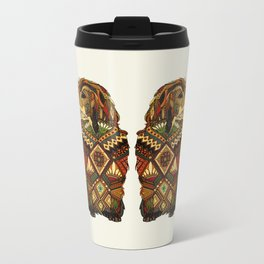 Golden Retriever ivory Metal Travel Mug