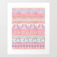 mexican Art Prints featuring Mexican Blanket by Sian Keegan