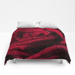Fire - Red - Rose - Roses Flowers Comforters
