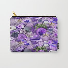 Passion Starfish and Seashells Carry-All Pouch