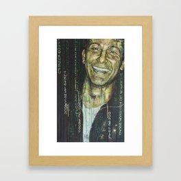 Was ist die Matrix? Framed Art Print