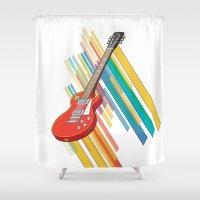 guitar Shower Curtains featuring Guitar by Pedro Alvarez