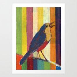 Caged Bird Singing Art Print