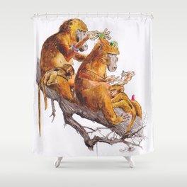 monkeys habits Shower Curtain
