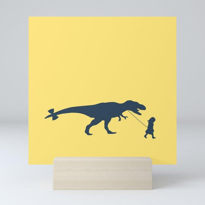 Walking my beast Mini Art Print