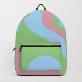 Radiating Hearts Pink, Blue, and Green Backpack