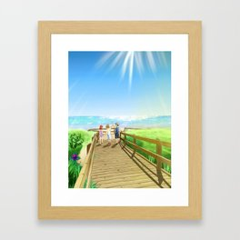 To The Island Framed Art Print