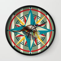 not all those who wander are lost Wall Clocks featuring Not all those who wander are lost by milanova