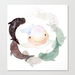 [Endangered animal] - Yangtze Finless Purpoise Canvas Print