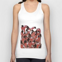 flamingos Tank Tops featuring Flamingos by Ollie Bright Art