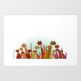 The Vector Cats Art Print