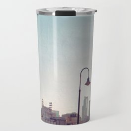 Minneapolis Minnesota Skyline at the Stone Arch Bridge Travel Mug