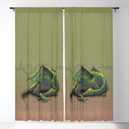 Sleeping dragon Blackout Curtain