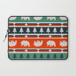 Winter bears and trees Laptop Sleeve