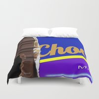 chocolate Duvet Covers featuring Chocolate by Nicklas Gustafsson