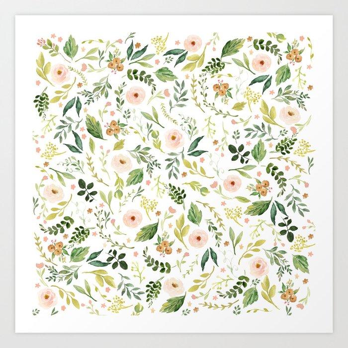 Botanical Spring Flowers Kunstdrucke