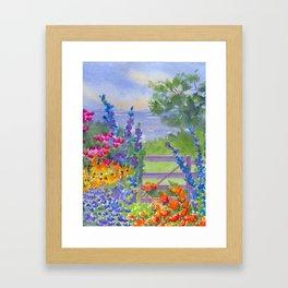 Celia Thaxter Garden at Isle of Shoals Framed Art Print