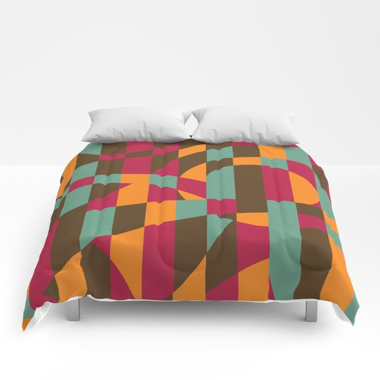 Abstract Graphic Art - Roller Coaster Comforters