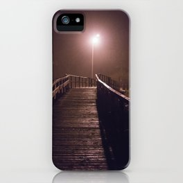 Foggy Footbridge iPhone Case