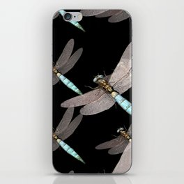 Dragonfly Air Force on Black iPhone Skin
