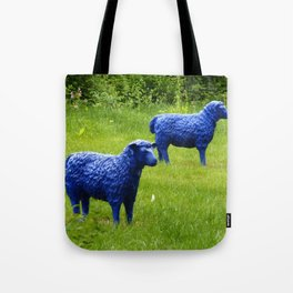 blue sheep Tote Bag