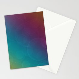 Bokeh Bubbles on Rainbow of Color - Ombre multi Colored Spheres Stationery Cards