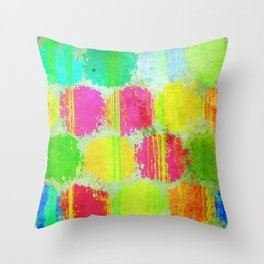 Colorful Dots Throw Pillow
