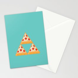 Tri-Pizza Stationery Cards