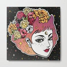 Floral Venus Metal Print