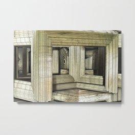 Escher Rooms Metal Print