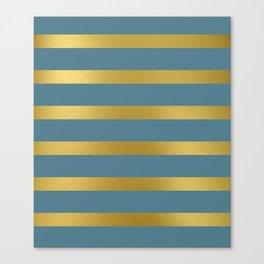 Baesic Gold & Blue Texture Shine Canvas Print