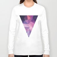 polygon Long Sleeve T-shirts featuring VIOLET POLYGON by Crimson-Shark