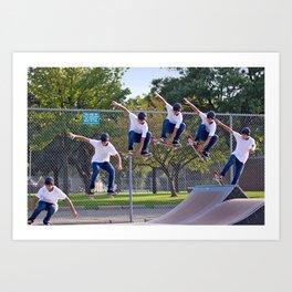 Adam Skateboarding  Art Print