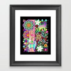 Mandalas, Cats & Flowers Fantasy Pattern Framed Art Print