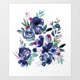 Athena Flowers Art Print