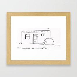 Pueblo Home with Out Door Bread Oven Framed Art Print