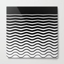 Black Wave Metal Print