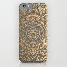 Gold Mandala 4 iPhone Case