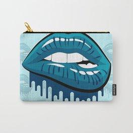 Jordan 13 Flint Matching Tee Bite Lips Retro 13 Navy 2 Carry-All Pouch