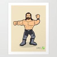 Seth Rollins - Pro Wrestling Illustration Art Print