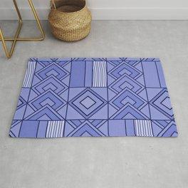 Purple African Ankara Geometric Print Rug