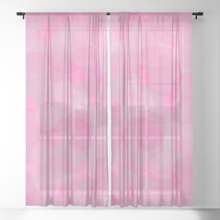 Pink Bubbles 3 Sheer Curtain
