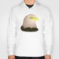 eagle Hoodies featuring Eagle by Nir P