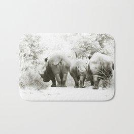 africa is a feeling - rhino's three Bath Mat