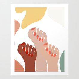 We persist - Girls hands - girlpower  Art Print