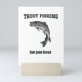 Trout Fishing San Juan River Mini Art Print