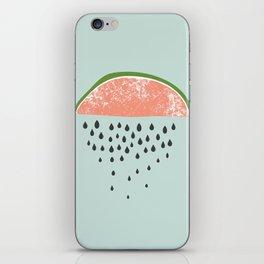 Watermelon raining seeds. iPhone Skin